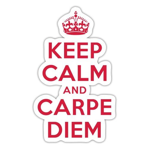 keep calm and carpe diem - Sticker