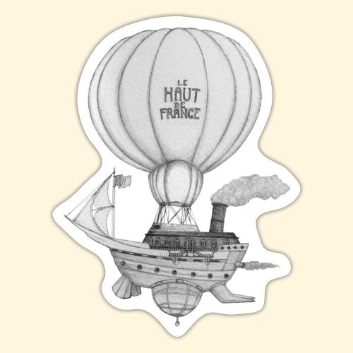 Bateau volant steampunk - Le Haut de France - Autocollant