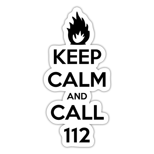 KEEP CALM and CALL 112 - Sticker