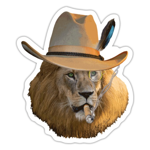 Löwe auf Safari - Sticker