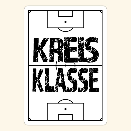 KREISKLASSE im Fußballfeld - Sticker