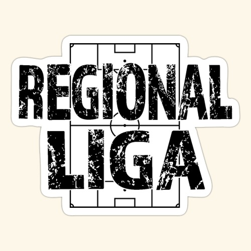 REGIONALLIGA im Fußballfeld - Sticker