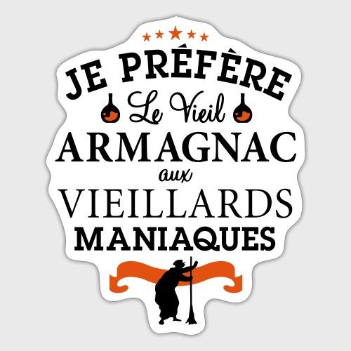 Vieil Armagnac - Humour Alcool - Autocollant