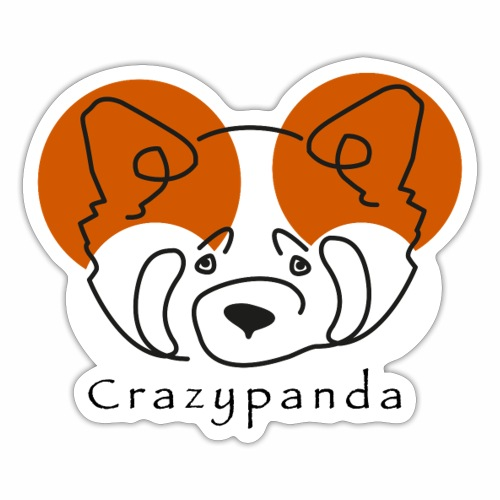 Crazypanda - Autocollant