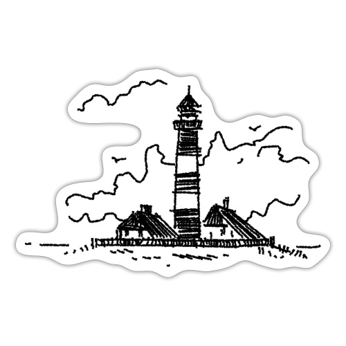 Leuchtturm Westerhever - Sticker