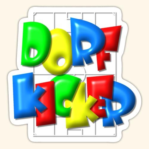 Dorfkicker im Fußballfeld - Balloon-Style - Sticker