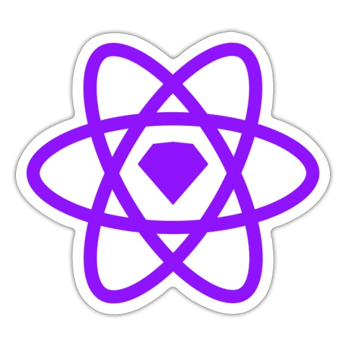 Sketch2React Dark Purple Logo - Sticker