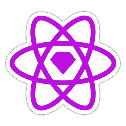 Sketch2React Purple Logo - Sticker
