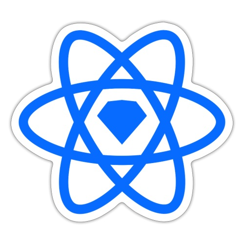 Sketch2React Logo Blue - Sticker