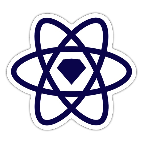 Sketch2react Logo Stratos - Sticker