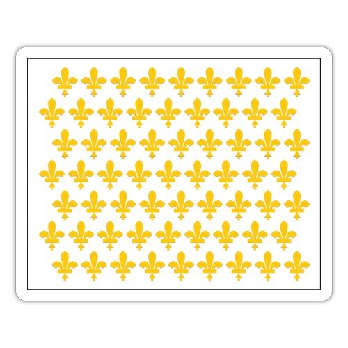 drapeau fleurdelysé - Autocollant
