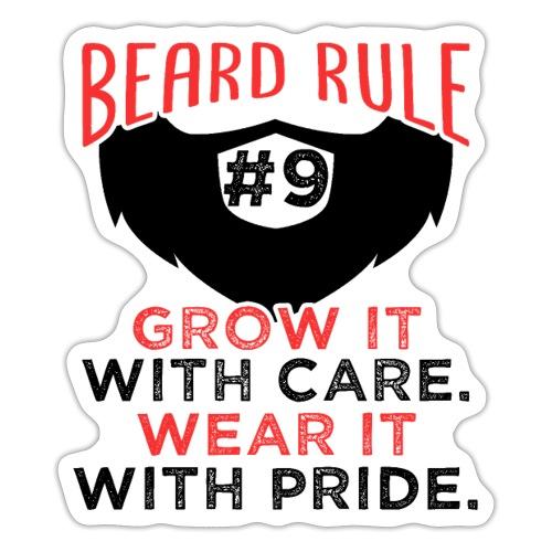 Beard Rule #9 - Sticker
