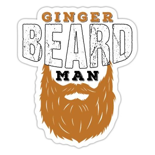 Beard Ginger Beard Man Redhead Gifts For Men - Sticker