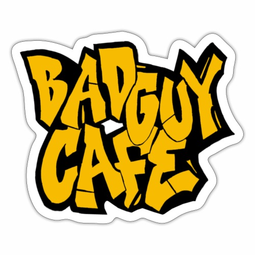 Bad Guy Cafe Logo - Sticker