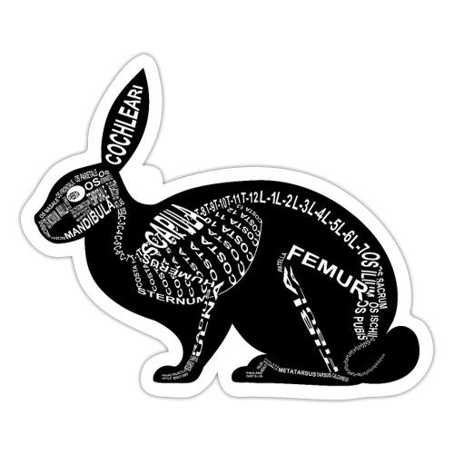 konijn skelet - Sticker