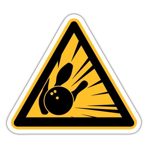 Gevaarlijk bowlen - Sticker
