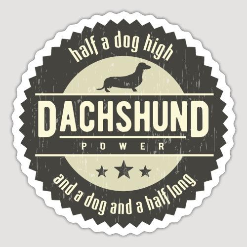 Dachshund Power - Sticker