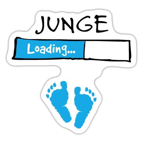 Junge loading // Schwangerschaft T-Shirt - Sticker