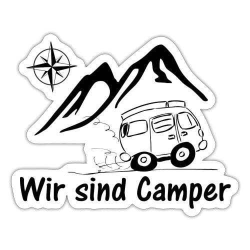 Wir sind Camper Logo schwarz - Sticker