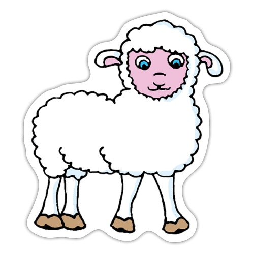 Minos le petit agneau - Autocollant