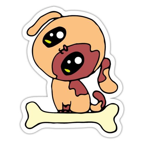 Kawaii le chien mignon - Autocollant