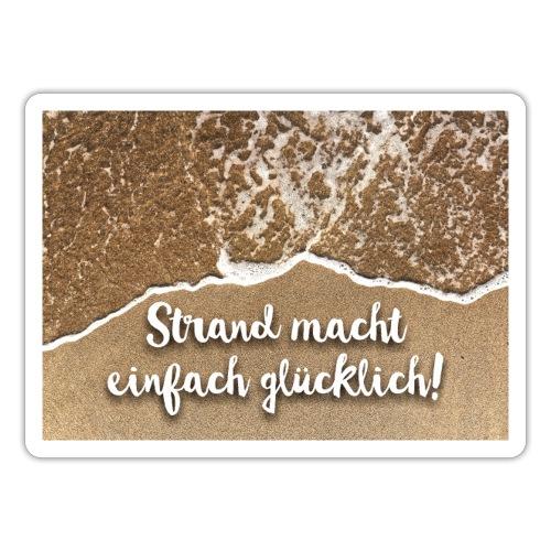 Mousepad - Strand macht einfach glücklich - Sticker