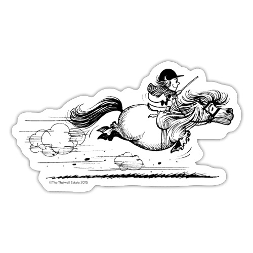 PonySprint Thelwell Cartoon - Sticker