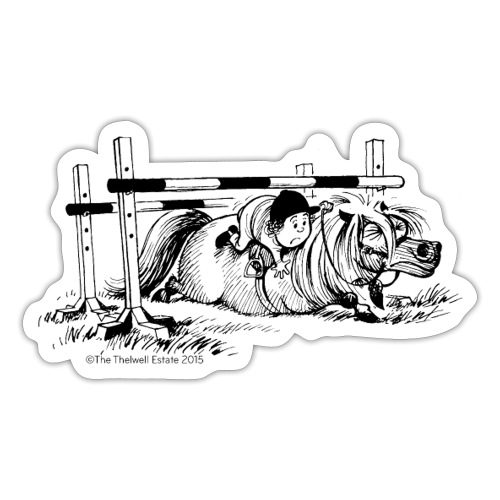 PonyFall Thelwell Cartoon - Sticker