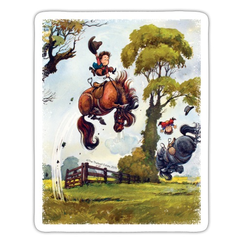 PonyRodeo Thelwell Cartoon - Sticker