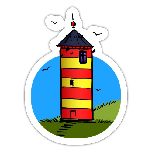 Leuchtturm Pilsum Wahrzeichen - Sticker