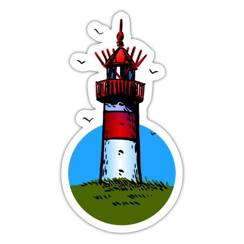 Leuchtturm Sylt Cartoon Design - Sticker
