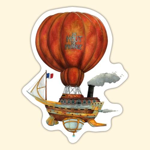 Le Haut-de-France - Bateau Steampunk Ch'ti - Autocollant