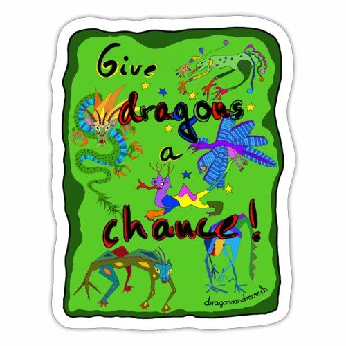 Donner une chance aux dragons - Autocollant