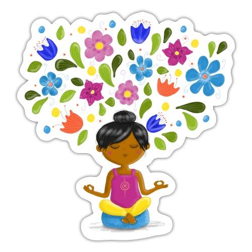 Meditation - Gedanken formen Deine Welt - Sticker