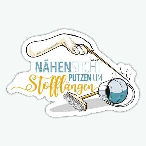 Nähen Putzen Frauen Spruch Handarbeit - Sticker