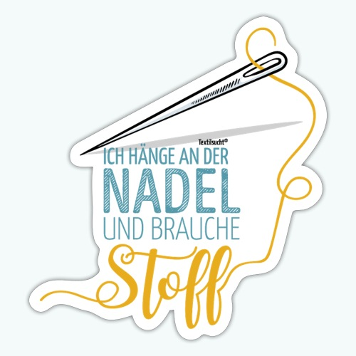 Nähen Nadel Frauen Spruch Handarbeit - Sticker