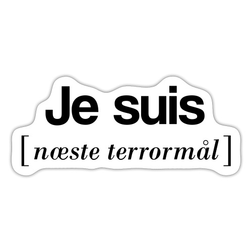 Je suis (sort skrift) - Sticker