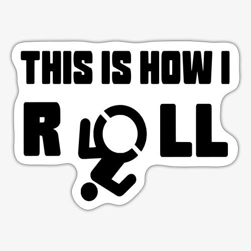 Zo rol ik in mijn rolstoel 017 - Sticker