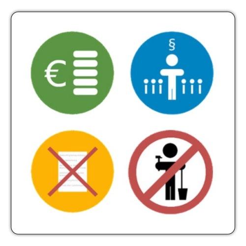 4kriteria obi vierkant - Sticker