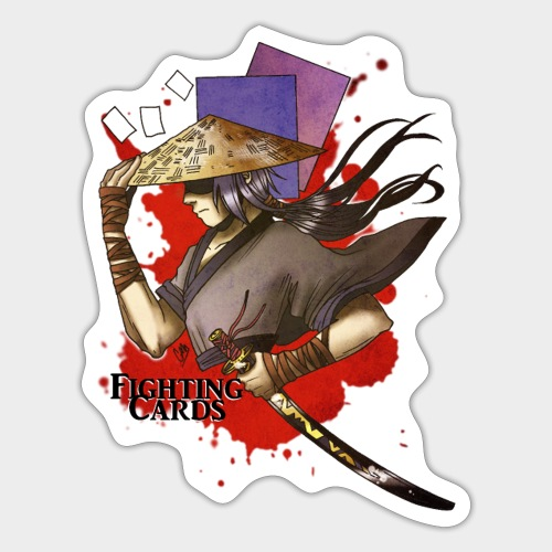 Fighting cards - Guerrier - Autocollant