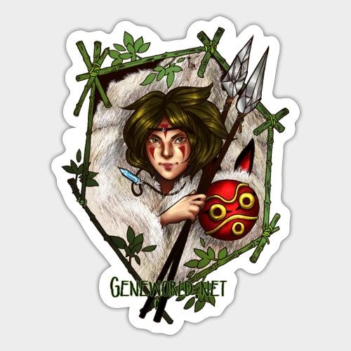 Geneworld - Mononoke - Autocollant