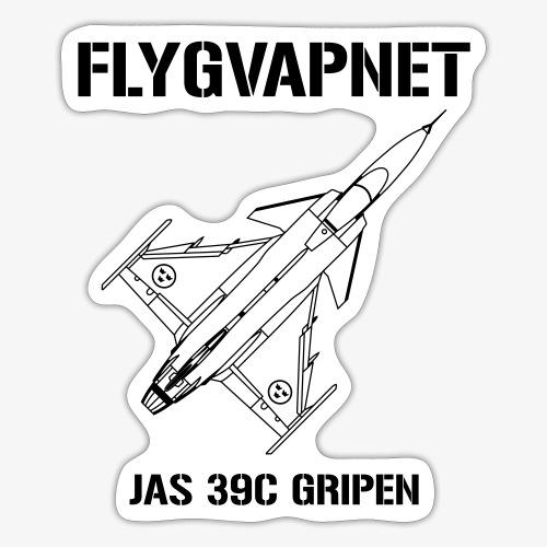FLYGVAPNET - JAS 39C - Klistermärke
