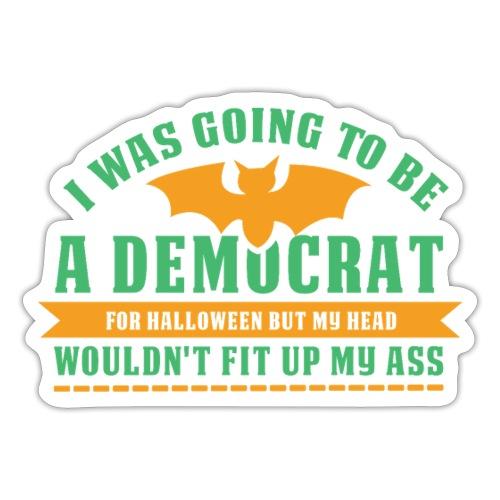 Ich wollte ein Demokrat zu Halloween sein - Sticker