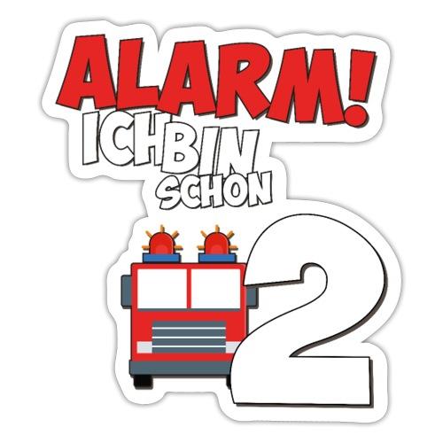 Feuerwehrauto 2. Geburtstag Jungen 2 Jahre - Sticker