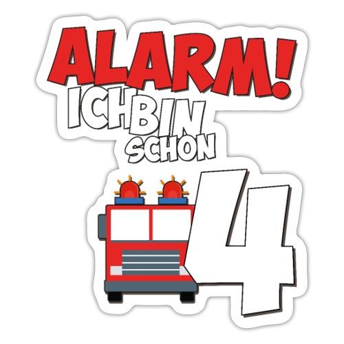 Feuerwehrauto 4. Geburtstag Jungen 4 Jahre - Sticker