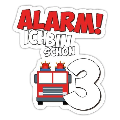 Feuerwehrauto 3. Geburtstag Jungen 3 Jahre - Sticker
