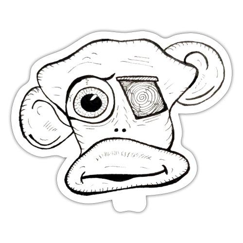 Visage de singe - Autocollant