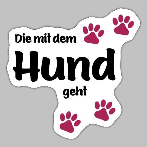 Die Mit Dem Hund Geht - Edition Colored Paw - Sticker