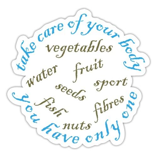 Gezond eten en drinken - Sticker