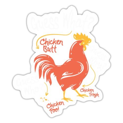 Lustiges Rate mal was das ist Huhn Po Hintern - Sticker